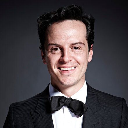 Andrew Scott  - 2019 Dark brown hair & chic hair style.