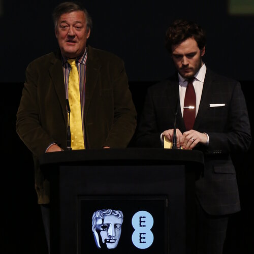 Event: Nominations Press Conference for the EE British Academy Film Awards in 2015 Date: 9 January 2015 Venue: BAFTA, 195 Piccadilly Hosts: Stephen Fry and Sam Claflin-Area: PRESS CONFERENCE