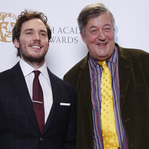 Event: Nominations Press Conference for the EE British Academy Film Awards in 2015 Date: 9 January 2015 Venue: BAFTA, 195 Piccadilly Hosts: Stephen Fry and Sam Claflin-Area: PHOTOCALL