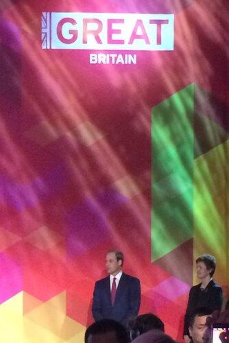 HRH The Duke of Cambridge opening the GREAT Festival of Creativity in Shanghai