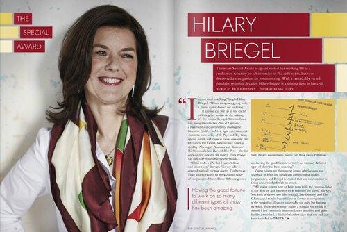 Television Craft Awards Brochure - Hilary Briegel Spread