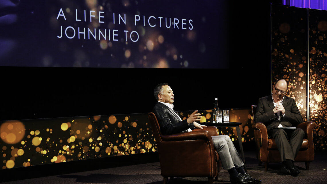 Event: BAFTA A Life in Pictures: Johnnie To sponsored by Create Hong Kong and Hong Kong Film Development Fund, supported by Brand Hong Kong and Hong Kong Economic and Trade Office, LondonDate: Monday 22 June,  2015Venue: BAFTA, 195 PiccadillyHost: Dunca