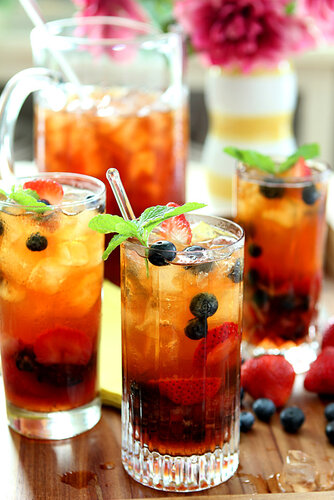 Very berry with tea mint