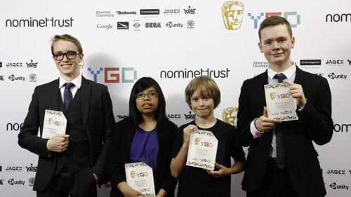 Event: BAFTA Young Game Designers AwardsDate: 25 July 2015Venue: BAFTA, 195 PiccadillyHosts: Ben Shires and Jane Douglas-Area: BRANDING BOARD