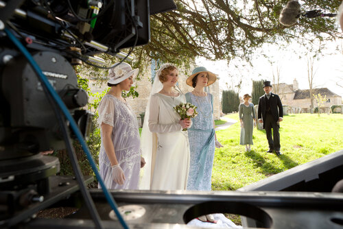 Downton Abbey Joss Barratt Photographer Wedding photograph behind the scenes