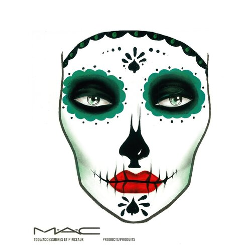 Sugar Skull Face Chart by Naomi Donne