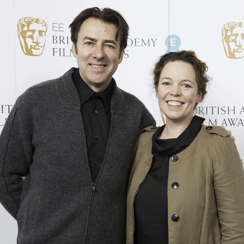 Jonathan Ross and Olivia Colman