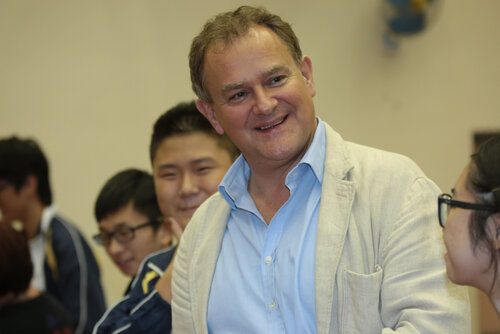 Event: Hugh Bonneville visits the Cotton Spinner Association Secondary School, in association with Shakespeare4AllDate: 26 November 2015Venue: Cotton Spinner Association Secondary School
