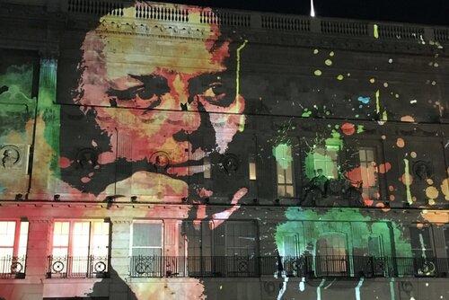 Richard Attenborough Lumiere projection