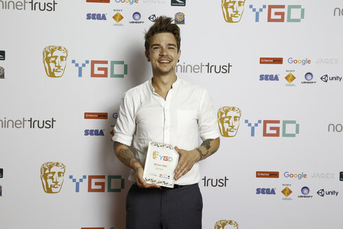 Event: BAFTA Young Game Designers AwardsDate: Sat 23 July 2016Venue: BAFTA, 195 PiccadillyHosts: Ben Shires, Jane Douglas-Area: WINNERS BRANDING BOARD