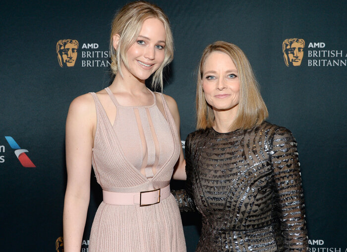 With Jennifer Lawrence
