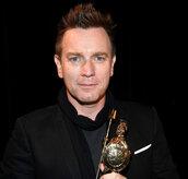 Ewan McGregor backstage at the 2016 Britannia Awards