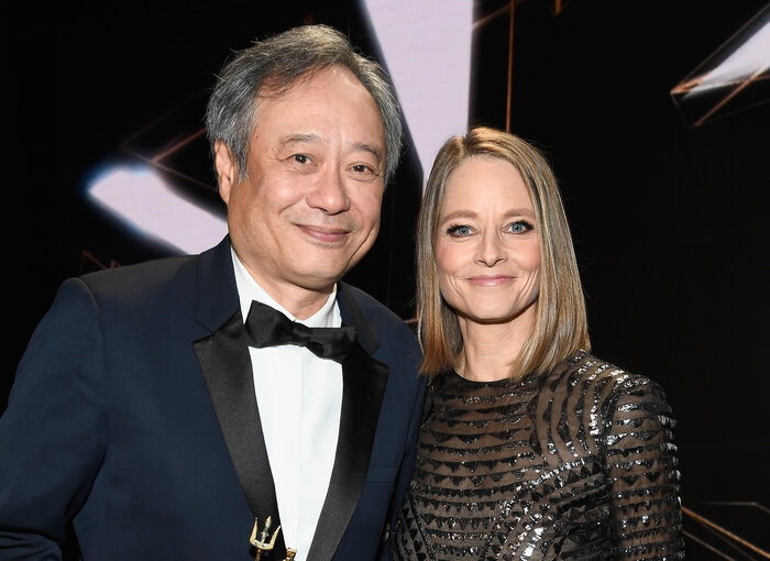 Ang Lee with Jodie Foster