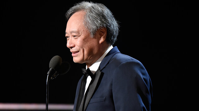 Ang Lee on Stage at the 2016 Britannia Awards