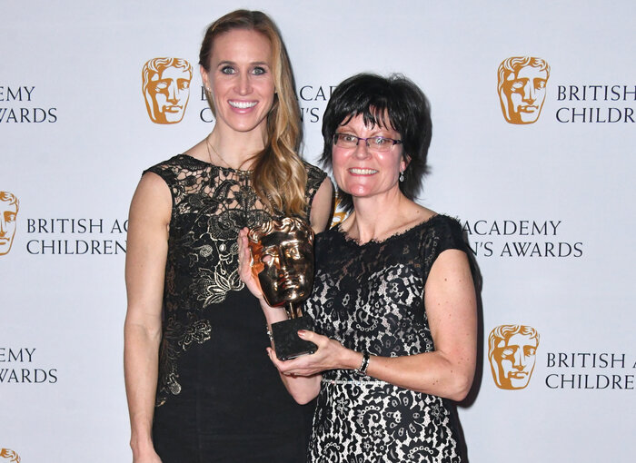 Kay Benbow with Helen Glover