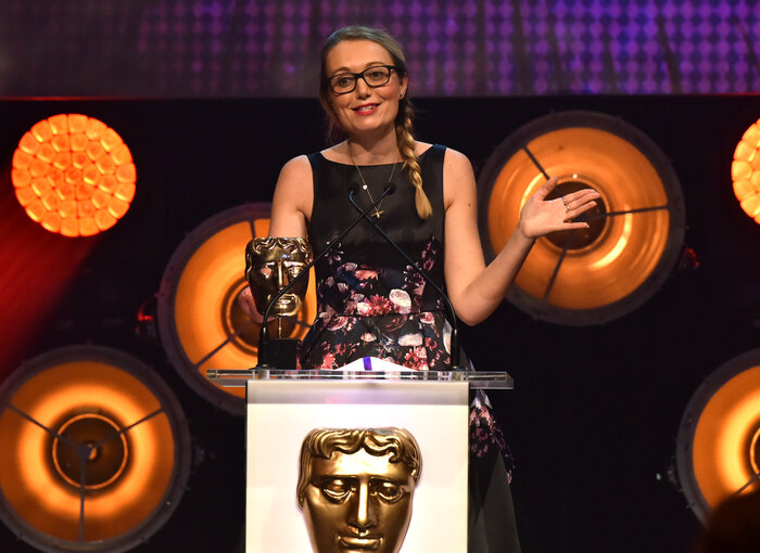 Cerrie Burnell presents the award