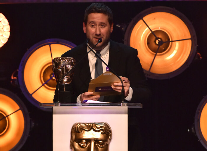 Jim Howick presents the award