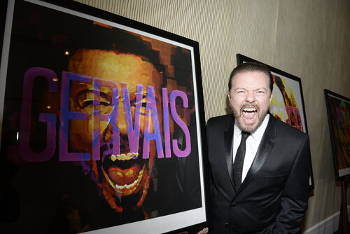 Ricky Gervais with 2016 Britannia Lincoln Townley Portrait