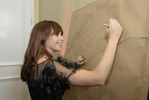 Felicity Jones signing 2016 Britannia Lincoln Townley Portrait