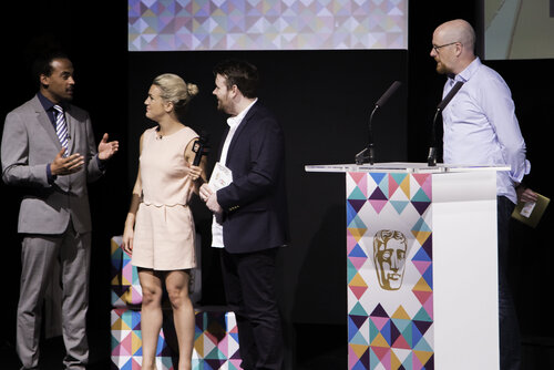 Event: BAFTA Young Game Designers AwardsDate: Saturday 8 July 2017Venue: BAFTA, 195 PiccadillyHosts: Dev Griffin & Georgie Barrat -Area: Ceremony