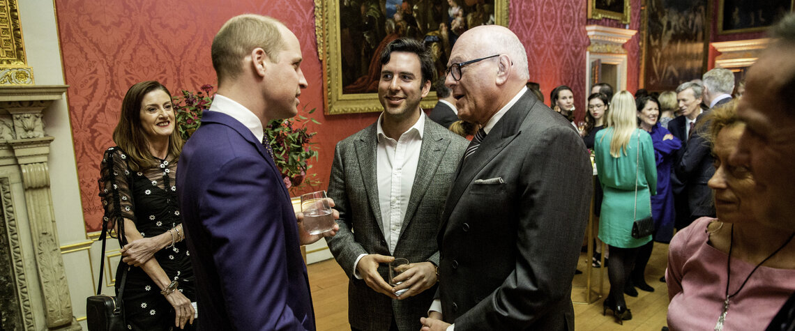 Event: Illuminating BAFTA Founding Supporter ReceptionDate: Tuesday 6 March 2018Venue: Kensington Palace, Kensington Gardens, London Host: HRH The Duke of Cambridge-Area: Reception