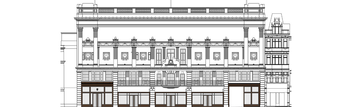 195 Piccadilly facade impression