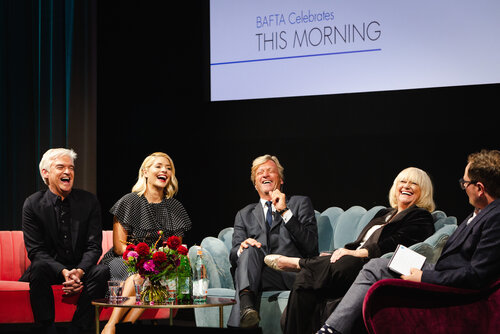 Event: A Tribute to This Morning Date: Monday 1 October 2018Venue: BAFTA, 195 Piccadilly, LondonHost: Alan Carr-Area: Q&A