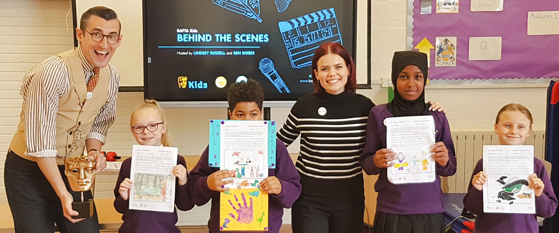 Event: BAFTA Kids & Place 2Be at Ark Kings Academy Primary, Kings Norton, BirminghamDate: Tuesday 1 October 2019Venue: Ark Kings Academy Primary, Kings Norton, BirminghamHosts: Lindsey Russell and Ben Shires-