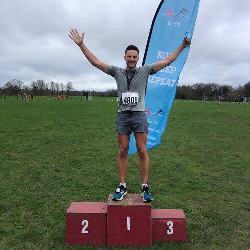 Lucas Webb trains for the London Marathon 2020